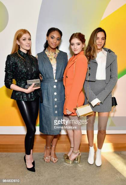 Katherine McNamara Chandler Kinney Willow Shields and Georgie Flores attend the Wolk Morais Collection 7 Fashion Show at The Jeremy Hotel on June 26...