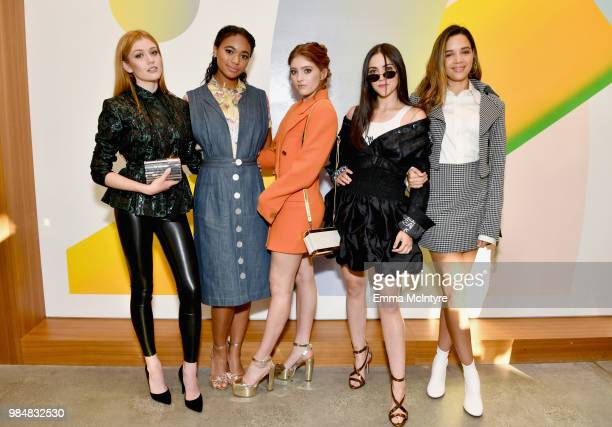 Katherine McNamara Chandler Kinney Willow Shields Isabelle Fuhrman and Georgie Flores attend the Wolk Morais Collection 7 Fashion Show at The Jeremy...