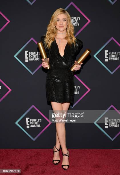 Katherine McNamara of Shadowhunters The Mortal Instruments Show of 2018 poses in the press room during the People's Choice Awards 2018 at Barker...