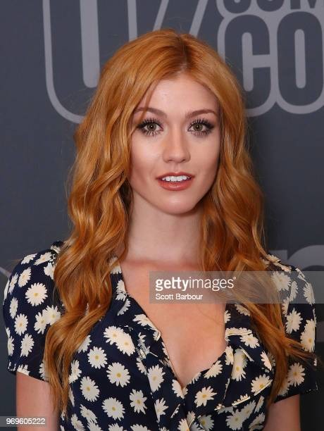 Katherine McNamara poses during a photo call ahead of Oz Comic Con on June 8 2018 in Melbourne Australia