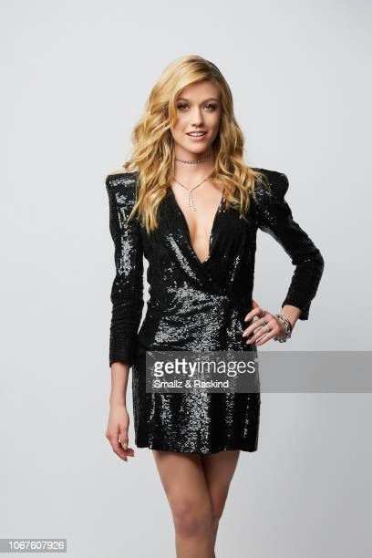 Katherine McNamara poses for a portrait during the 2018 People's Choice Awards at The Barker Hanger on November 11 2018 in Santa Monica California