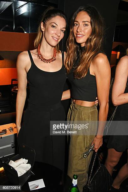 Katherine Mills and Lizzy Bowden attend as Blakes hotel celebrates the launch of Blakes Below a luxury bar and lounge designed by Anouska Hempel on...