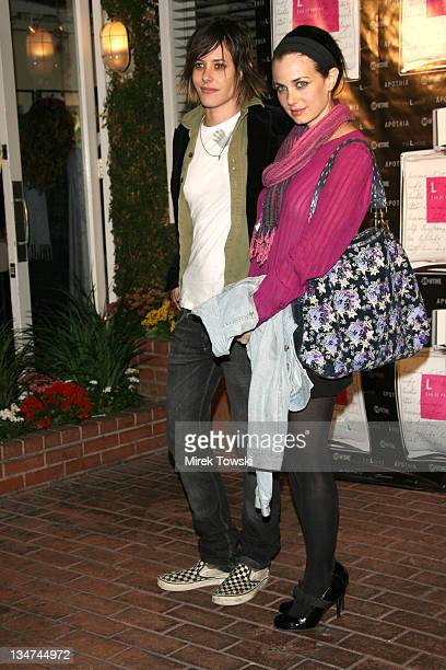 Katherine Moennig and Mia Kirshner during 'L Eau de Parfum' Fragrance Inspired by Showtime's 'The L Word' Launch Party at Fred Segal on Melrose in...