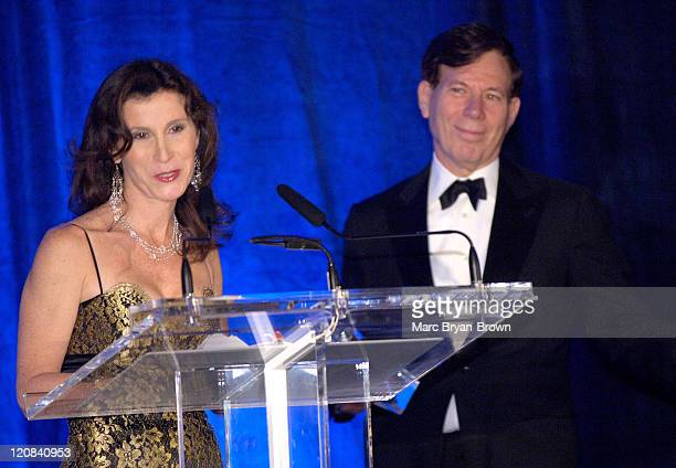 Katherine Oliver and NATAS President Peter Price during Community and Public Service Emmy Award Ceremony at Marriott Marquis in New York City New...