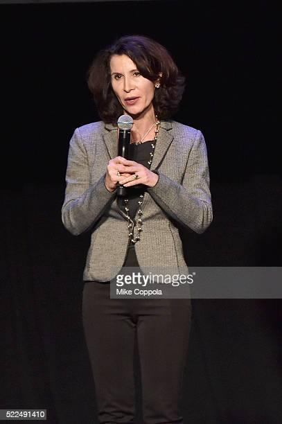 Katherine Oliver Principal at Bloomberg Associates speaks onstage at Imagination Day during the 2016 Tribeca Film Festival at Spring Studios on April...