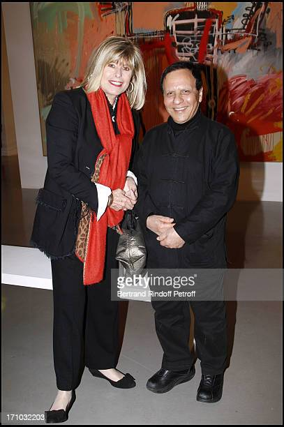 Katherine Pancol Azzedine Alaia at Dinner Of Firends Of the Museum Of Modern Art In Paris