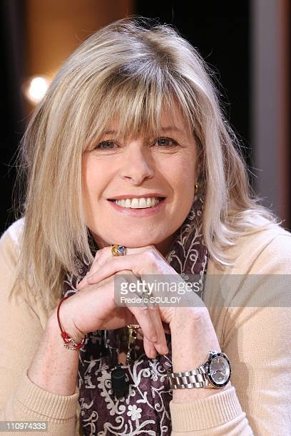 Katherine Pancol in Tv talk show Vol de nuit hosted by Patrick Poivre d'Arvor in Paris France on February 28th 2006