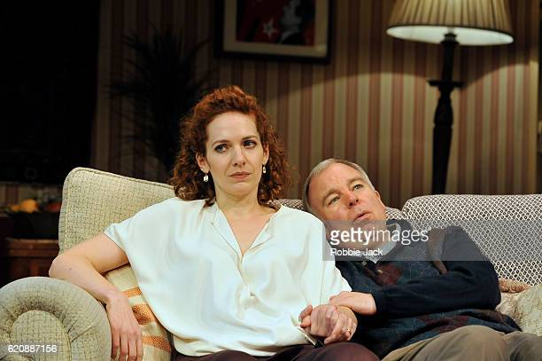 Katherine Parkinson as Eleanor and Steve Pemberton as Brian in Terry Johnson's Dead Funny directed by Terry Johnson at the Vaudeville Theatre on...