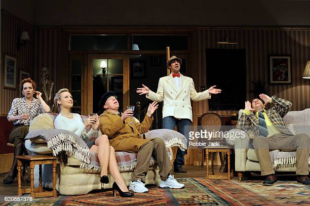 Katherine Parkinson as Eleanor, Emily Berrington as Lisa, Steve Pemberton as Brian, Ralf Little as Nick and Rufus Jones as Richard in Terry Johnson's...