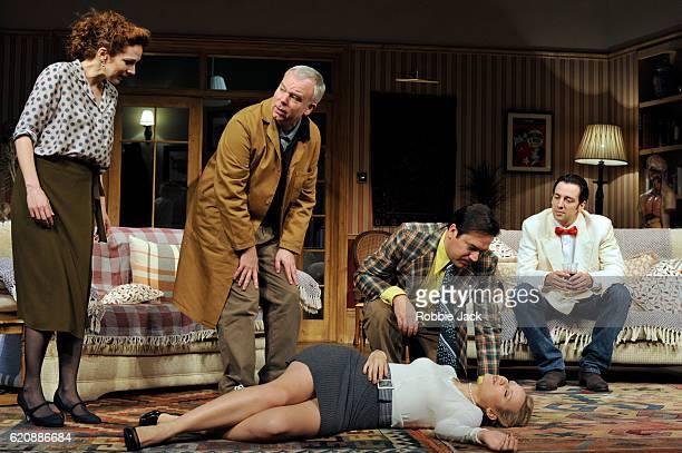 Katherine Parkinson as Eleanor, Steve Pemberton as Brian, Emily Berrington as Lisa, Rufus Jones as Richard and Ralf Little as Nick in Terry Johnson's...