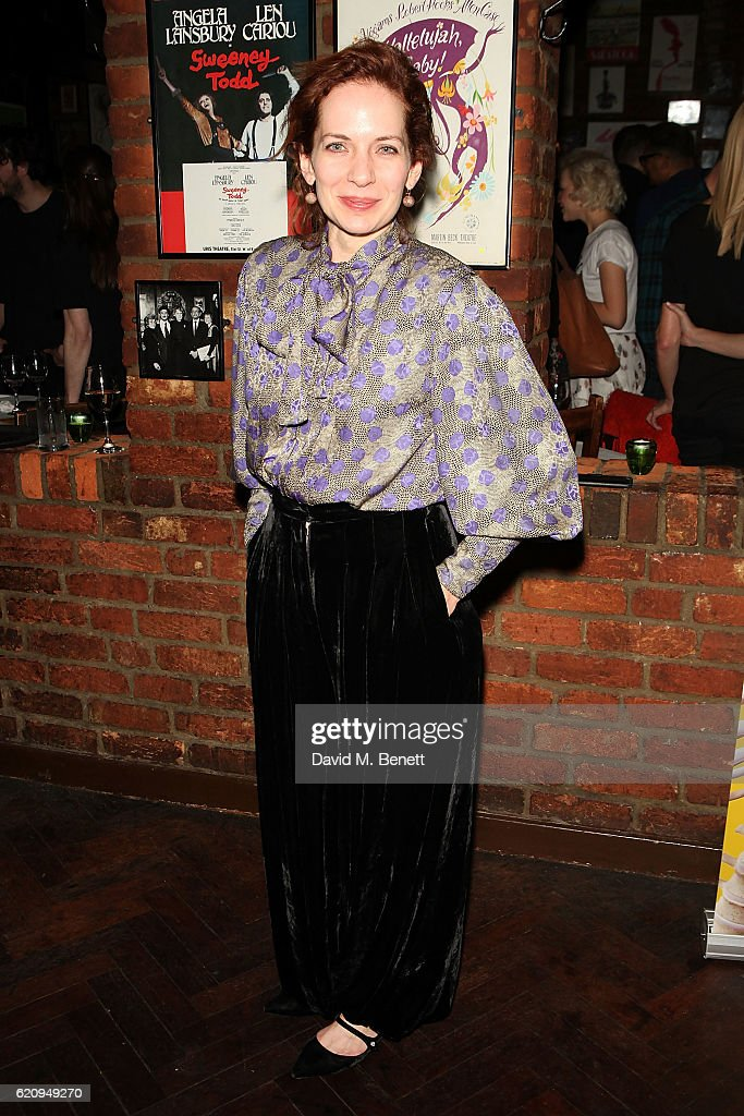 Katherine Parkinson attends the press night after party for 'Dead Funny' at Joe Allen Restaurant on November 3, 2016 in London, England.