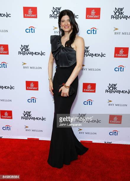 Katherine Parr attends New York Philharmonic 106 AllStars opening gala concert of New York's Orchestra at David Geffen Hall on September 19 2017 in...