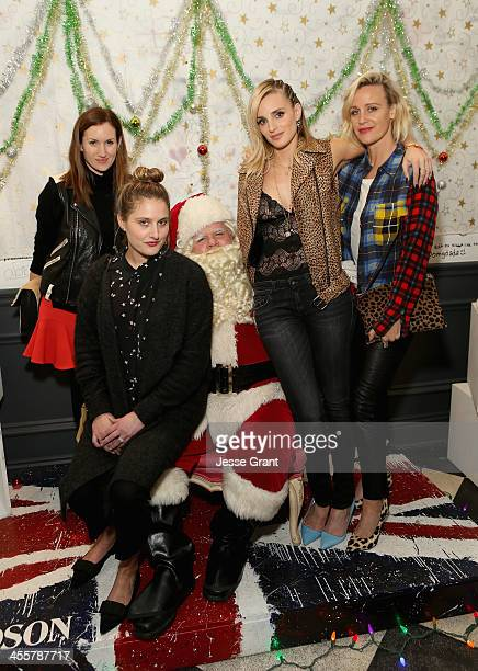 Katherine Power Renata Faiman Katie Nehra and Ali Taekman attend the SIMONE SATINE Holiday Party at Satine on December 12 2013 in Los Angeles...
