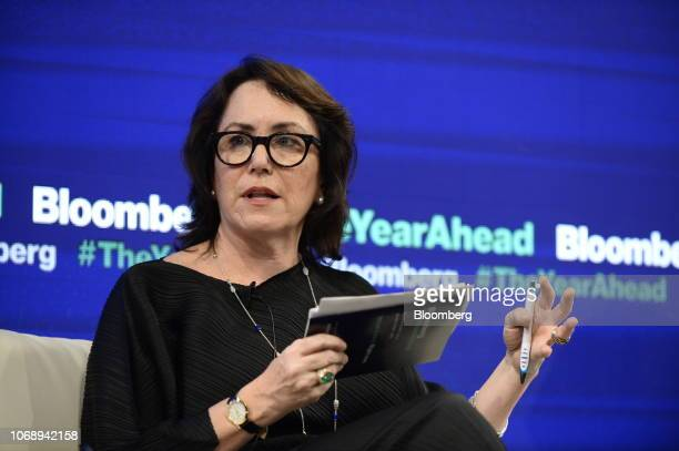 Katherine Rabin chief executive officer of Glass Lewis Co LLC speaks during the Bloomberg Year Ahead summit in Tokyo Japan on Thursday Dec 6 2018 The...
