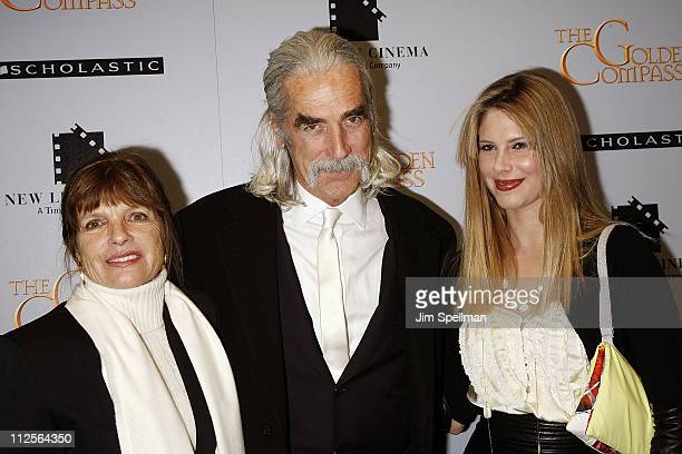 "Katherine Ross, actor Sam Elliot and Cleo Rose Elliott arrive at ""The Golden Compass"" premiere at the Ziegfeld Theater on December 2, 2007 in New..."