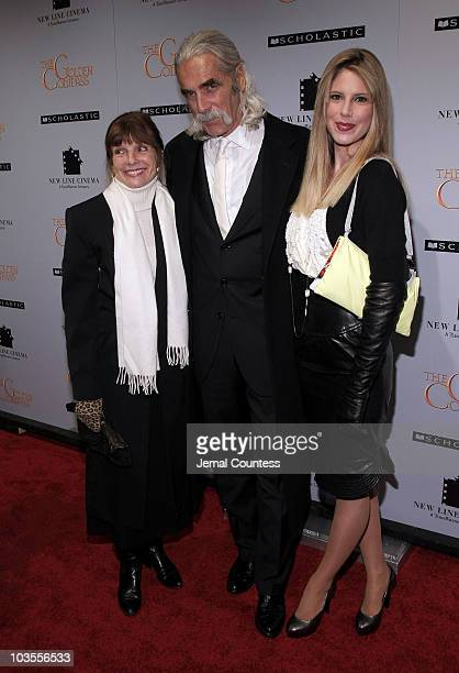 Katherine Ross actor Sam Elliot and Cleo Rose Elliott attend the New York premiere of The Golden Compass at the Ziegfeld Theatre on December 2 2007...