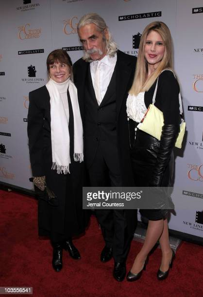 "Katherine Ross, actor Sam Elliot and Cleo Rose Elliott attend the New York premiere of ""The Golden Compass"" at the Ziegfeld Theatre on December 2,..."