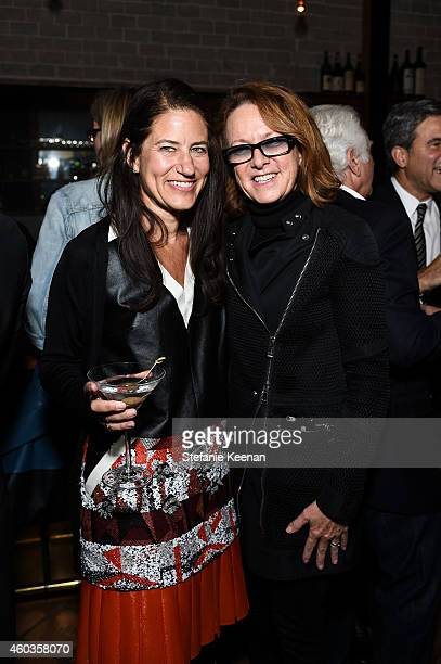 Katherine Ross and Annie Philbin attend Regen Projects' 25th Anniversary Party on December 11 2014 in Los Angeles California