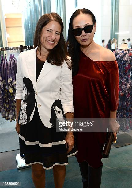 Katherine Ross and Eva Chow attend the Director's Circle Celebration of WEAR LACMA Inaugural Designs by Johnson Hartig For Libertine And Gregory...
