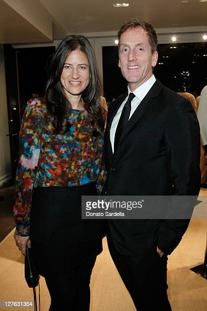 Katherine Ross and Glenn McMahon CEO of St John Knits International attend a PS Arts event at Concept Melrose Place on March 8 2011 in West Hollywood...