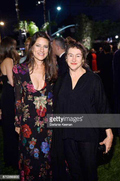 Katherine Ross and Nancy Rubins attend the 2017 LACMA Art Film Gala Honoring Mark Bradford and George Lucas presented by Gucci at LACMA on November 4...
