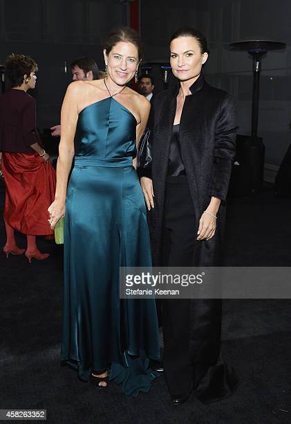 Katherine Ross and Rosetta Getty attend the 2014 LACMA Art + Film Gala honoring Barbara Kruger and Quentin Tarantino presented by Gucci at LACMA on...