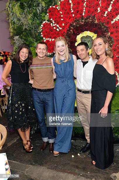 Katherine Ross Chris Peters Elle Fanning Shane Gabier and Angelique Soave attend Just One Eye x Creatures of the Wind Collaboration Dinner at Just...