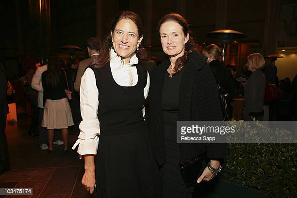 Katherine Ross of LVMH and west coast editor of Men's Vogue Lisa Love at Men's Vogue Visionaries Honoring Michael Govan at the LACMA on October 15...