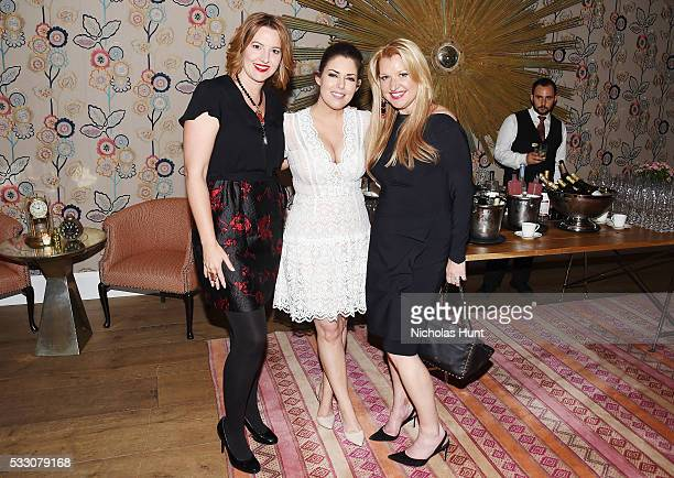 "Katherine Rush, Bobbie Thomas, Mindy Grossman attends Disney's ""Alice Through The Looking Glass"" New York Screening & Dinner at Crosby Street Hotel..."