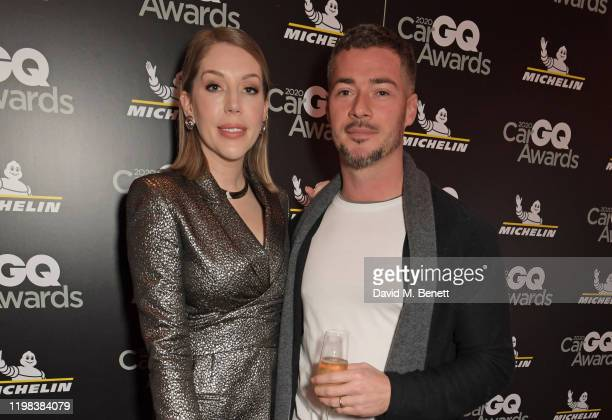 Katherine Ryan and Bobby Kootstra attend the GQ Car Awards 2020 in assoociation with Michelin at the Corinthia Hotel London on February 3 2020 in...
