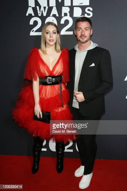Katherine Ryan and Bobby Kootstra attend The NME Awards 2020 at the O2 Academy Brixton on February 12 2020 in London England