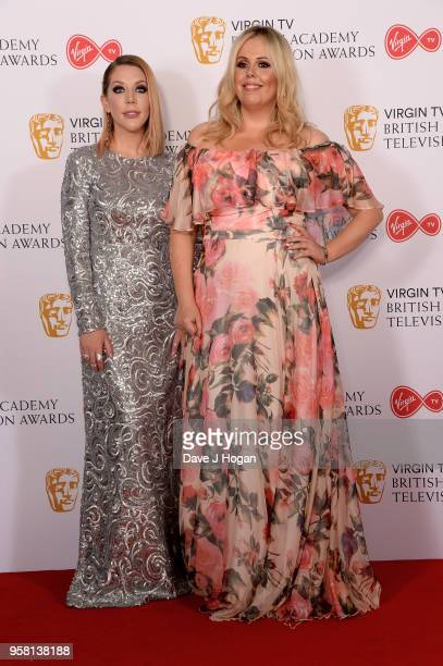 Katherine Ryan and Roisin Conaty pose in the press room at the Virgin TV British Academy Television Awards at The Royal Festival Hall on May 13 2018...