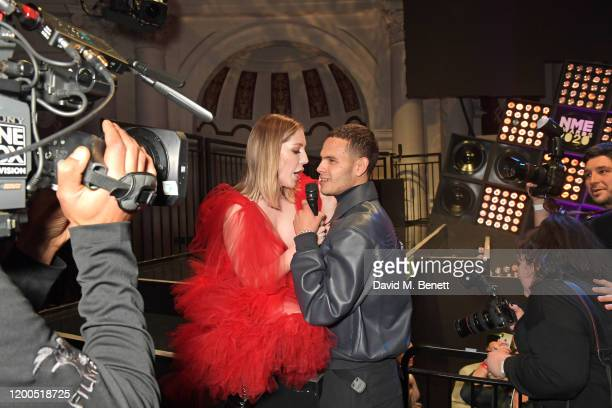 Katherine Ryan and Slowthai attend The NME Awards 2020 at the O2 Academy Brixton on February 12 2020 in London England