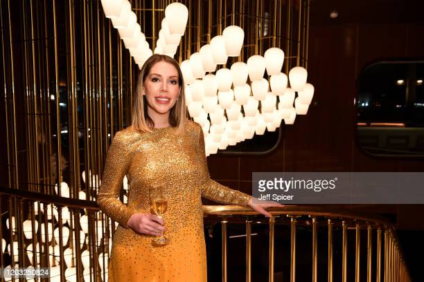 Katherine Ryan attends a drinks reception on board Virgin Voyages' new cruise ship 'Scarlet Lady' on February 25 2020 in Liverpool England
