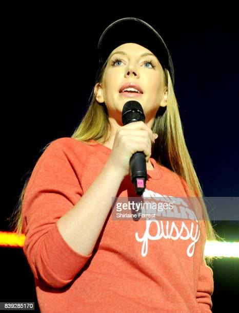 Katherine Ryan performs at Leeds Festival at Bramhall Park on August 25 2017 in Leeds England