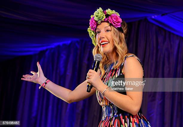 Katherine Ryan performs on the Comedy stage at Latitude Festival at Henham Park Estate on July 15 2016 in Southwold England