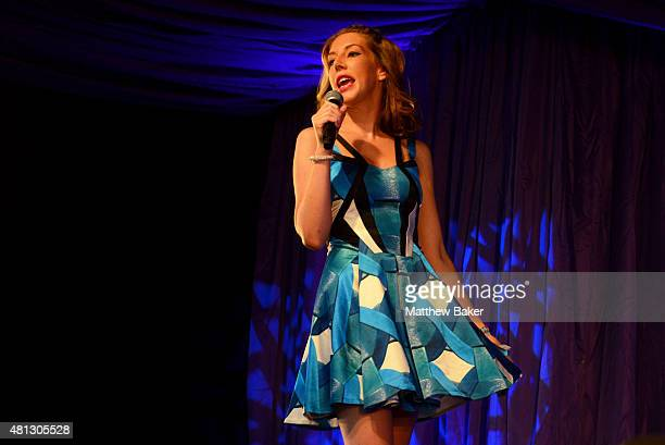 Katherine Ryan performs on the Comedy Stage on day 4 of Latitude Festival at Henham Park Estate on July 19 2015 in Southwold England