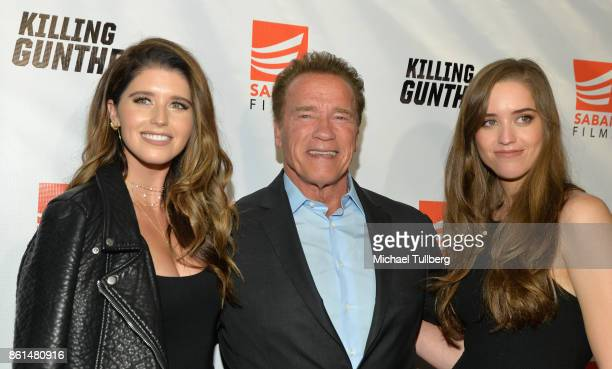 Katherine Schwarzenegger actor Arnold Schwarzenegger and Christina Schwarzenegger attend the premiere of Saban Films' 'Killing Gunther' at TCL...