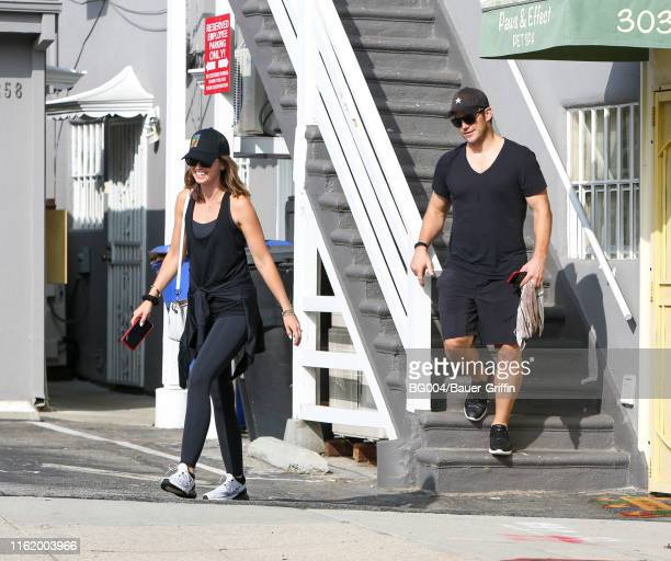 Katherine Schwarzenegger and Chris Pratt are seen on August 16 2019 in Los Angeles California