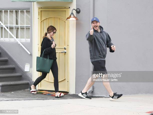 Katherine Schwarzenegger and Chris Pratt are seen on March 01 2019 in Los Angeles California