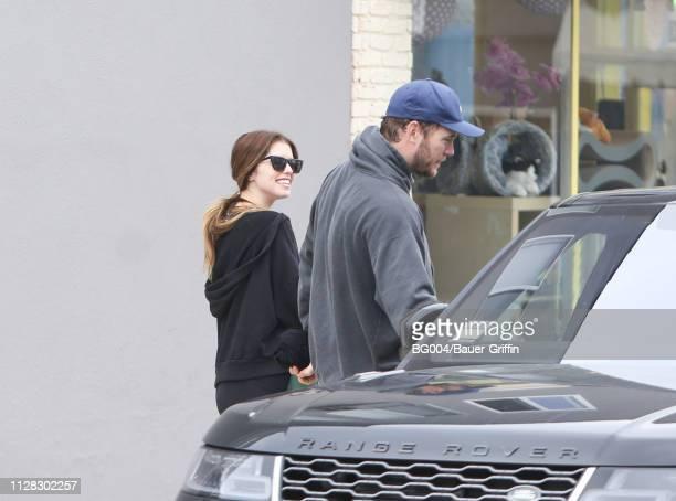 Katherine Schwarzenegger and Chris Pratt are seen on March 01 2019 in Los Angeles California