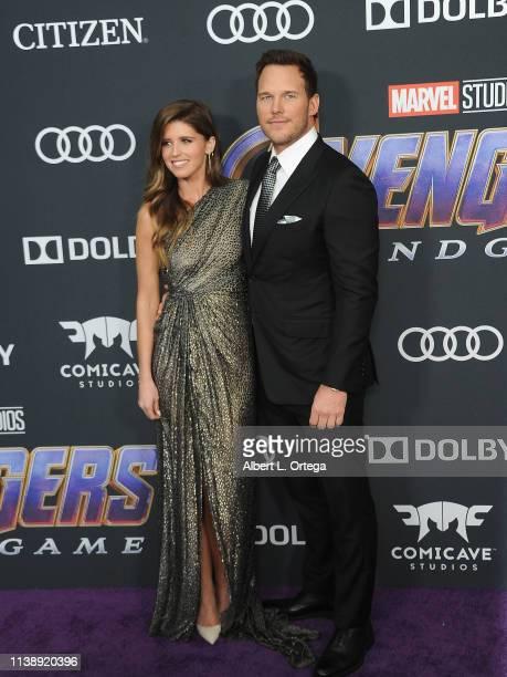 Katherine Schwarzenegger and Chris Pratt arrive for the World Premiere Of Walt Disney Studios Motion Pictures Avengers Endgame held at Los Angeles...