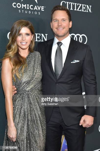 Katherine Schwarzenegger and Chris Pratt attend the world premiere of Walt Disney Studios Motion Pictures Avengers Endgame at the Los Angeles...