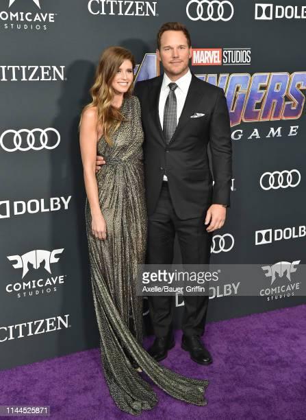 Katherine Schwarzenegger and Chris Pratt attend the World Premiere of Walt Disney Studios Motion Pictures 'Avengers Endgame' at Los Angeles...