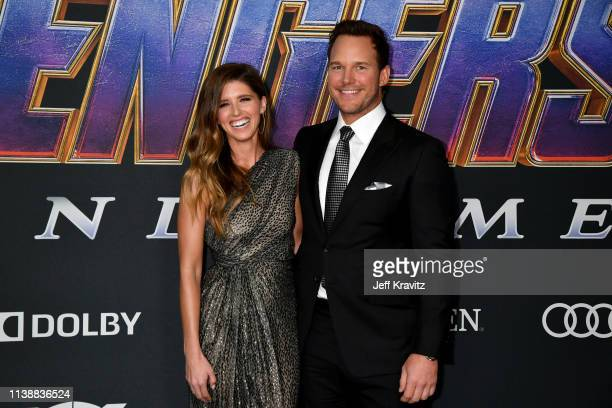 Katherine Schwarzenegger and Chris Pratt attends the World Premiere of Walt Disney Studios Motion Pictures Avengers Endgame at Los Angeles Convention...