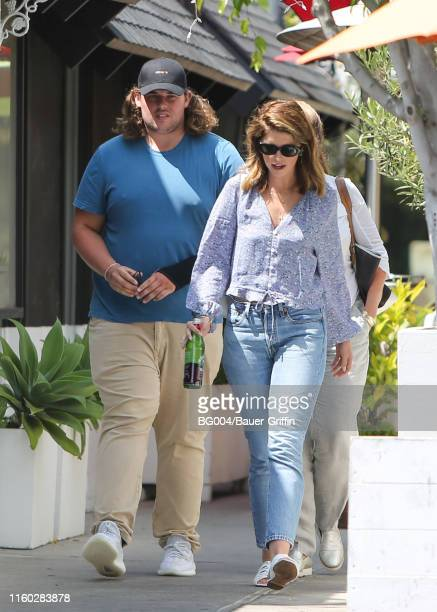 Katherine Schwarzenegger and her brother Christopher are seen on August 07 2019 in Los Angeles California