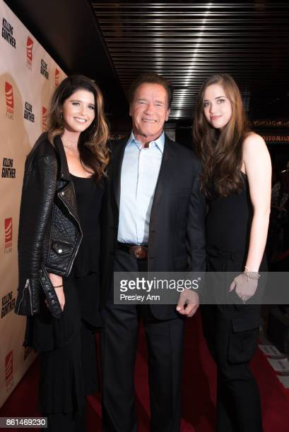 Katherine Schwarzenegger Arnold Schwarzenegger and Christina Schwarzenegger attend Premiere Of Saban Films' Killing Gunther Red Carpet at TCL Chinese...
