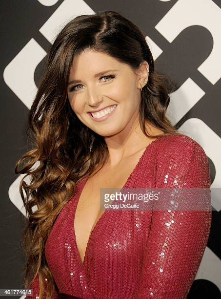 Katherine Schwarzenegger arrives at Diane Von Furstenberg's Journey Of A Dress premiere opening party at Wilshire May Company Building on January 10...