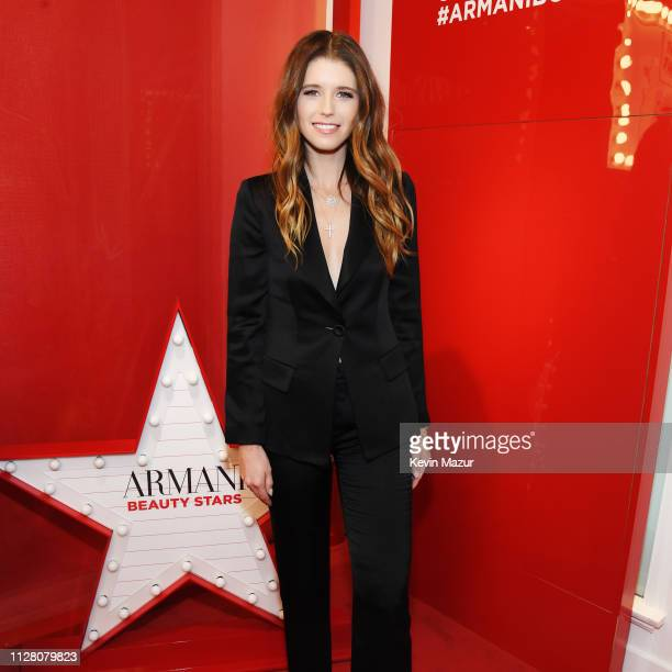 Katherine Schwarzenegger attends The Armani Box Los Angeles Pop-Up Store Grand Opening at The Armani Box on February 06, 2019 in West Hollywood,...