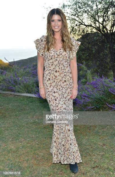 Katherine Schwarzenegger attends the Mandy Moore x Fossil private dinner at One Gun Ranch on October 20, 2018 in Malibu, California.